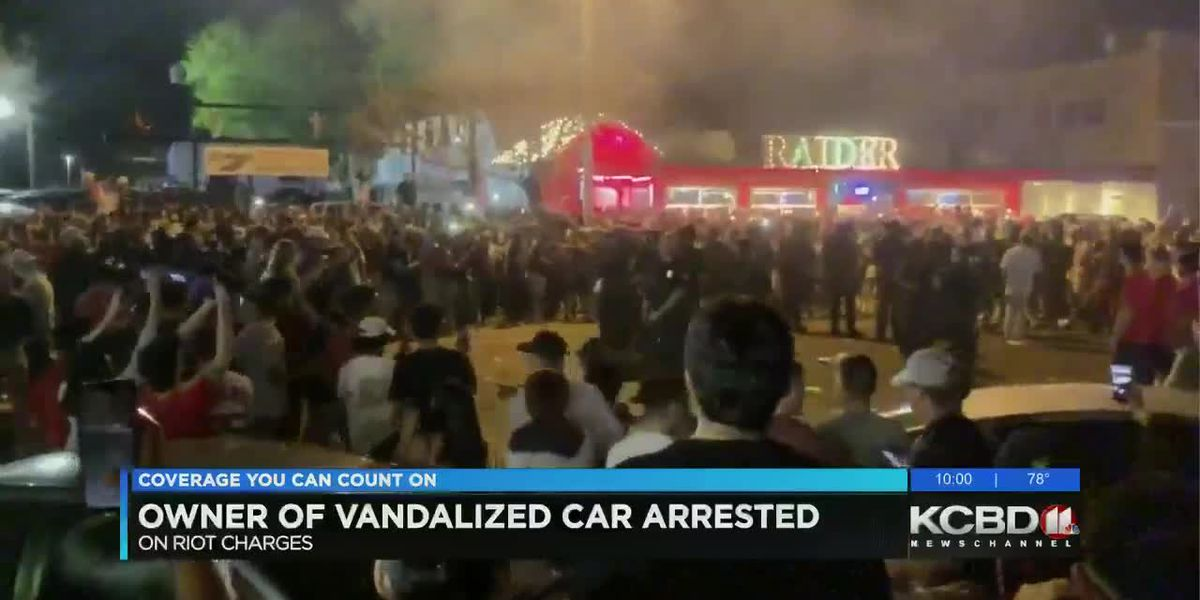 Owner of vandalized car charged with rioting