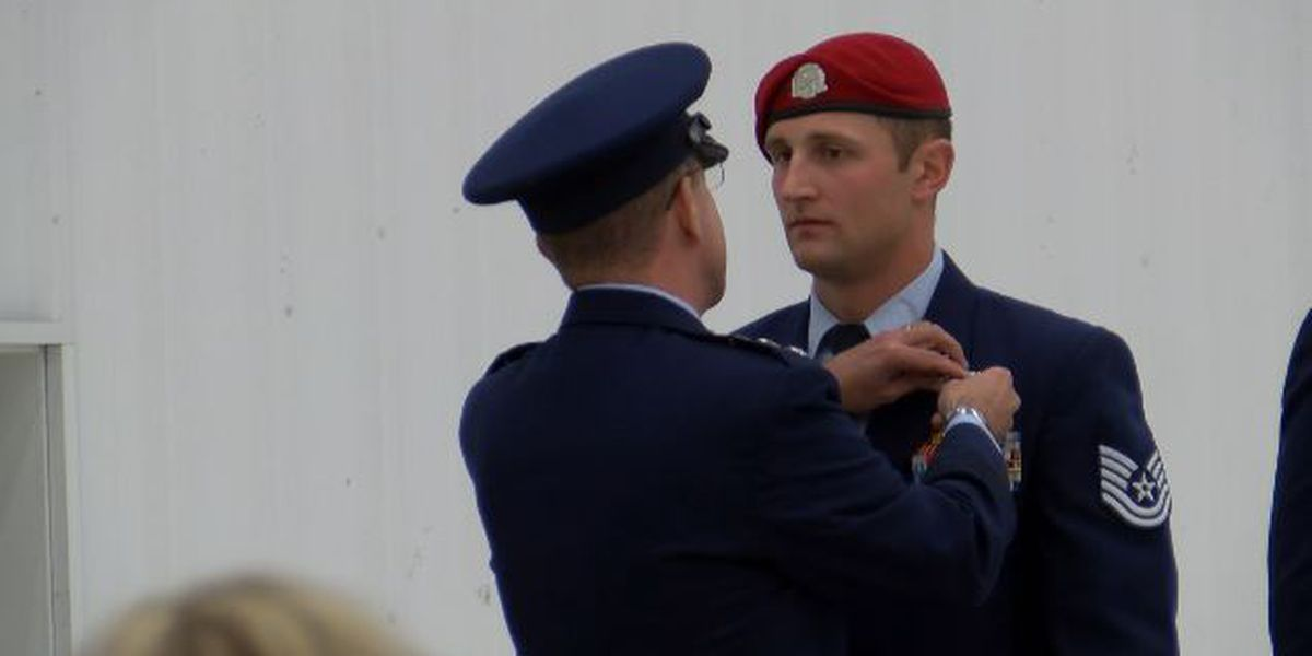 Special Tactics airman awarded Silver Star medal at Cannon Air Force Base
