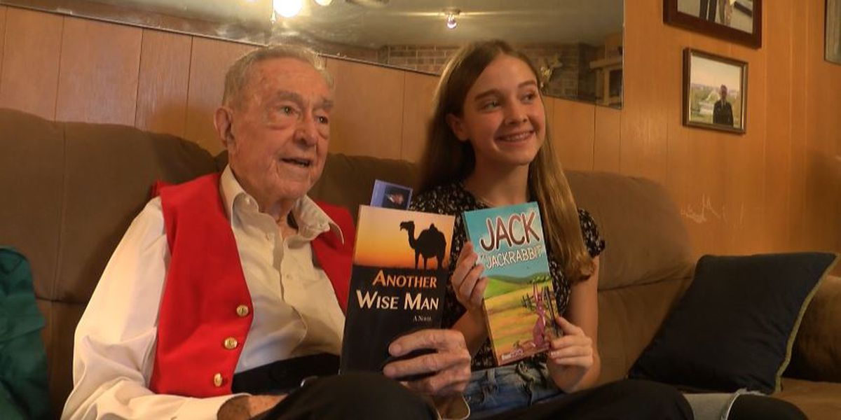 98-year-old shares wisdom with 8th grader as they both become first time authors