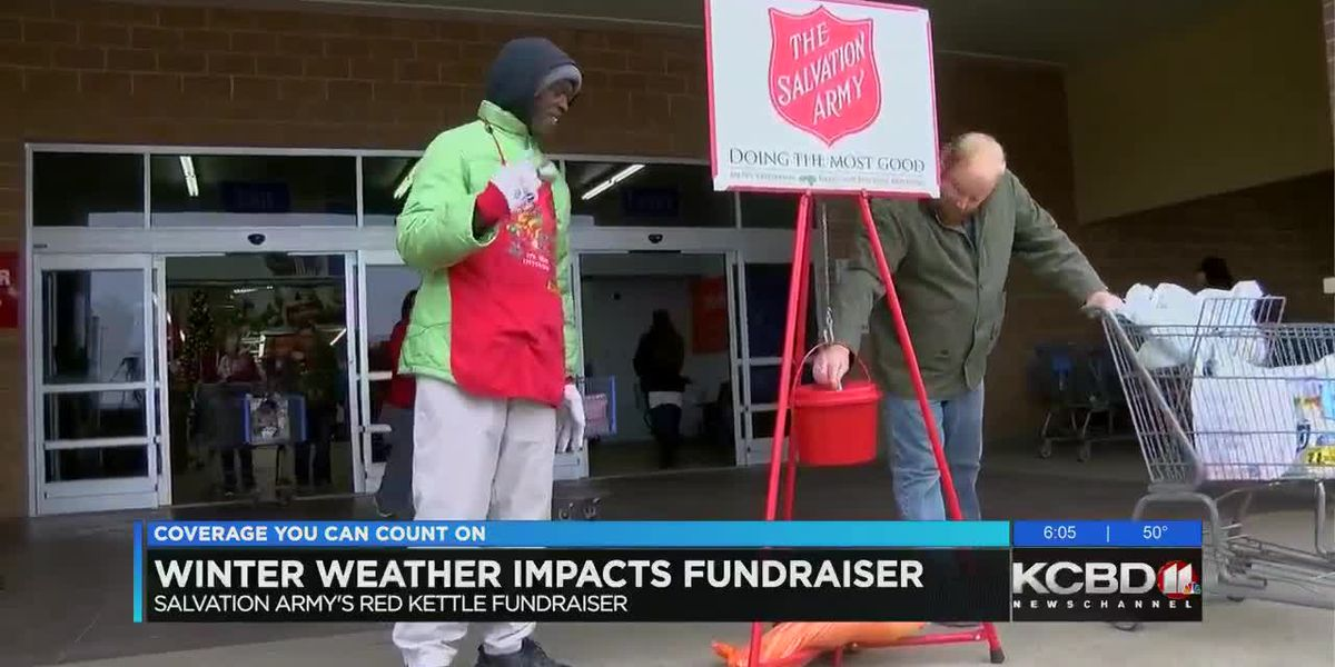 Winter weather impacts Salvation Army bell ringing