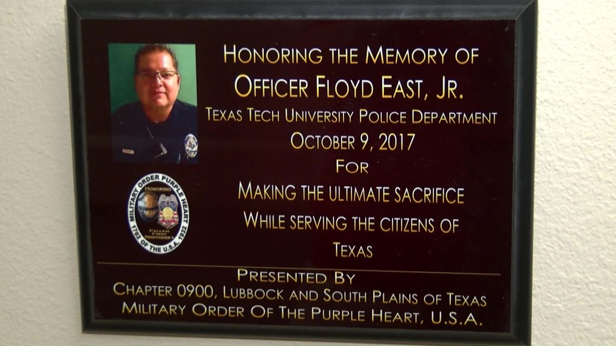 Texas Tech University police chief opens up about loss of Officer Floyd East Junior