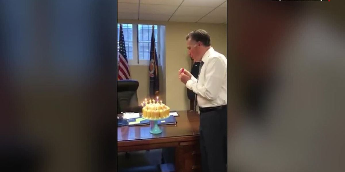 Mitt Romney blew out his birthday candles in a weird way, but there's a reason