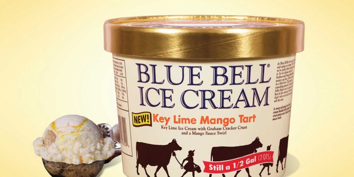 Blue Bell introduces Key Lime Mango Tart Ice Cream flavor