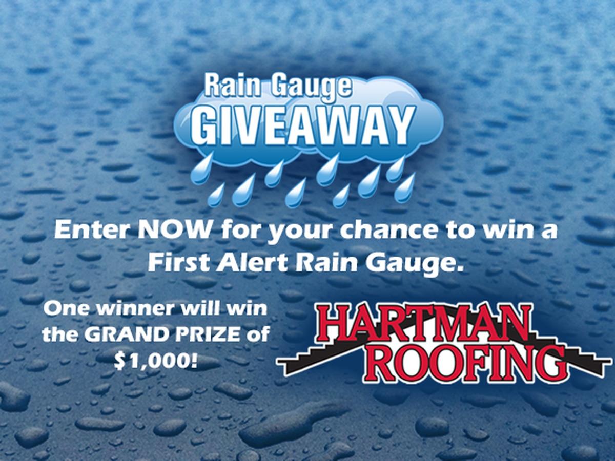 Rain Gauge Giveaway 2020
