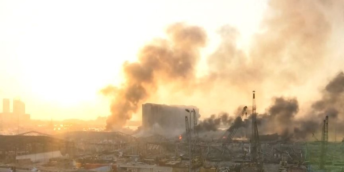 Massive damage in Beirut after explosion