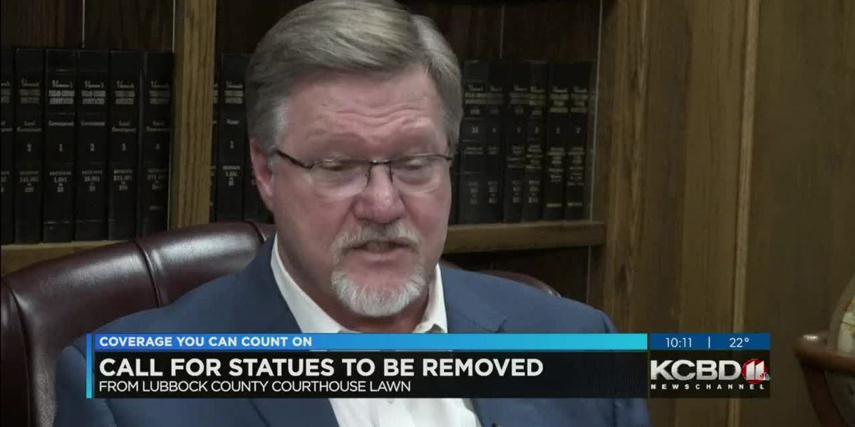 Calls for statues to be removed from Lubbock Courthouse lawn