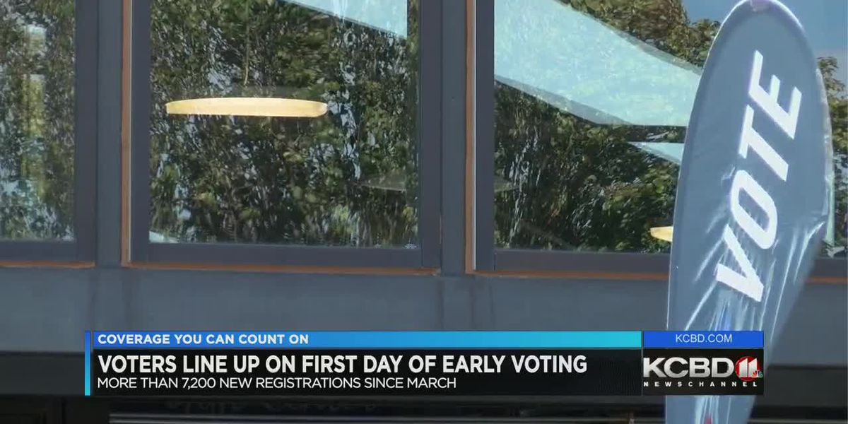 Lubbock County voters line up for early voting with more than 7,200 new registrations