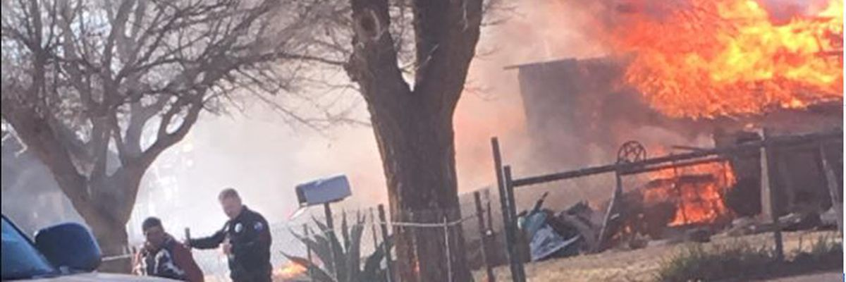2 injured in Brownfield house explosion, house destroyed