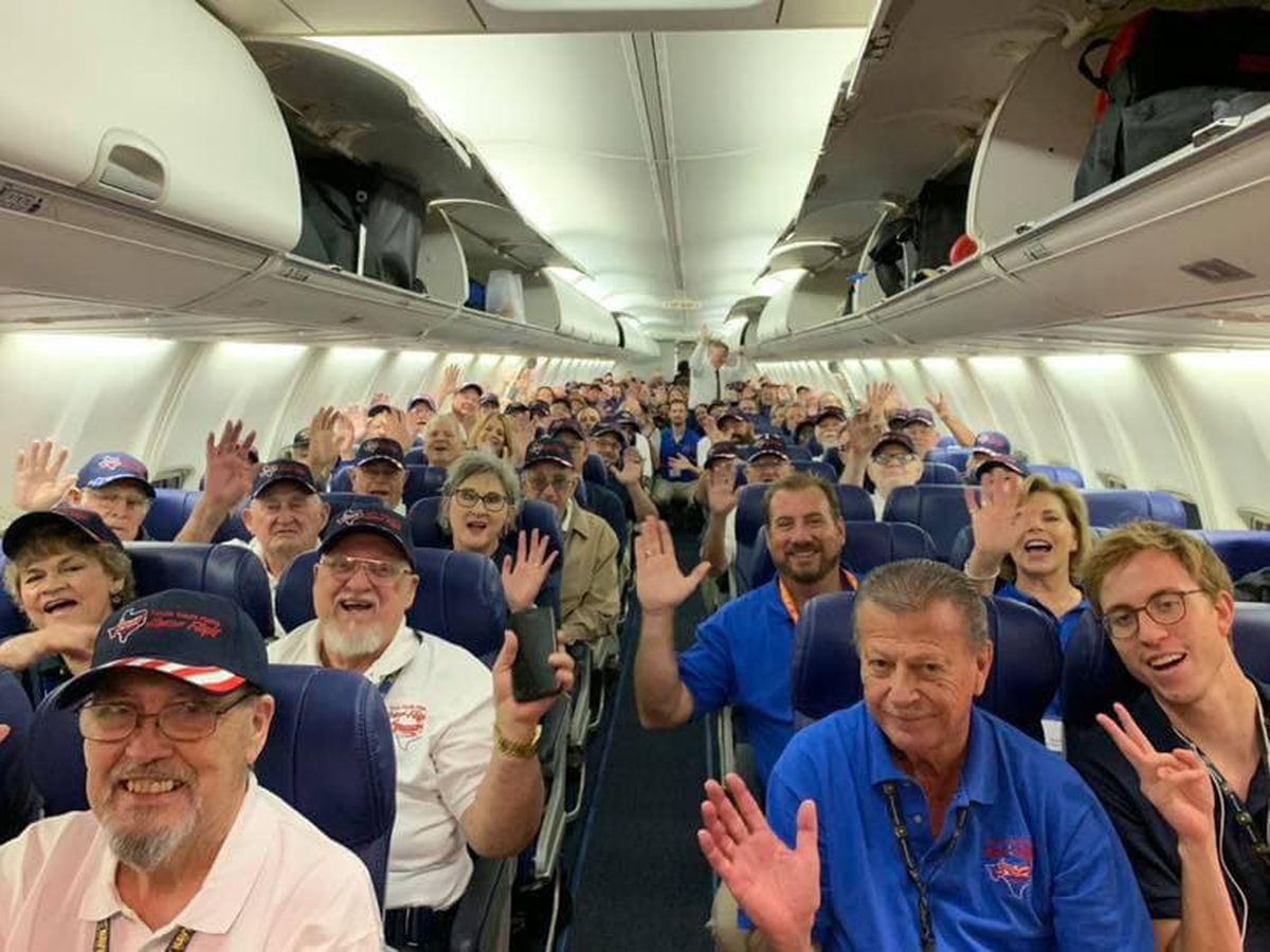 Texas South Plains Honor Flight veterans wrap up Day 1 in DC