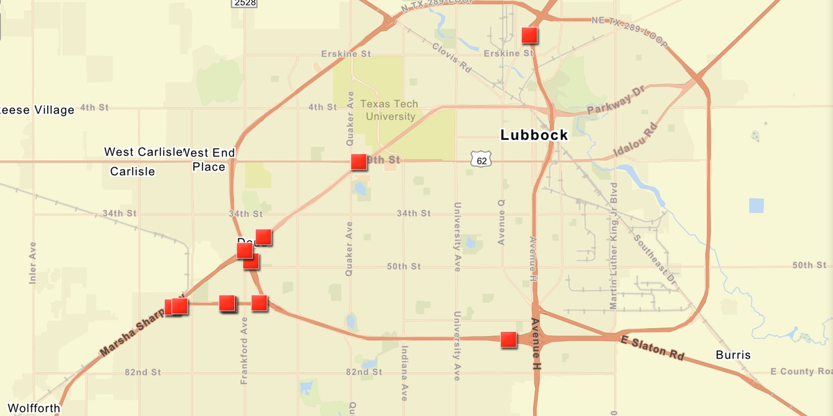 TRAFFIC ALERT: Roads closed due to icy conditions, 73 crashes reported in Lubbock