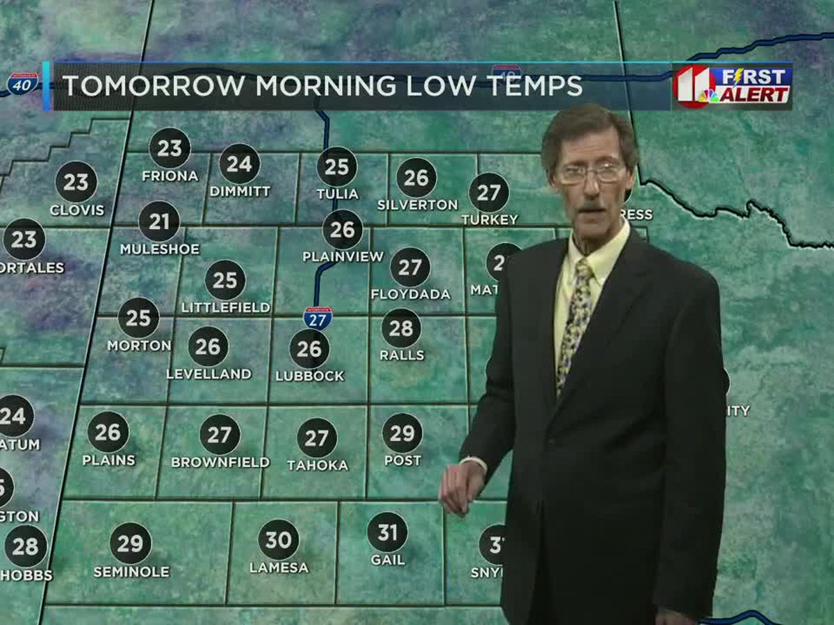 Colder air settles into the region overnight