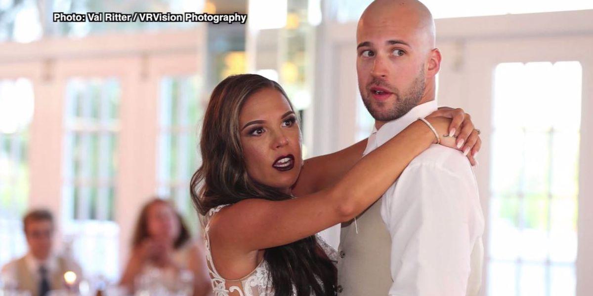 Newlyweds want to meet wedding crasher who got arrested