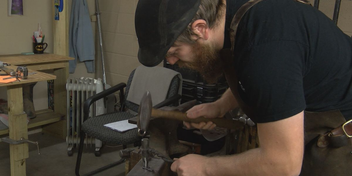 Lubbock blacksmith forging ahead with full-time shop