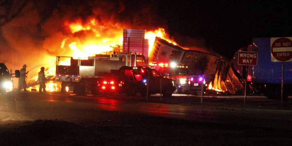 DPS: One person killed, nine people injured in fiery crash on I-20