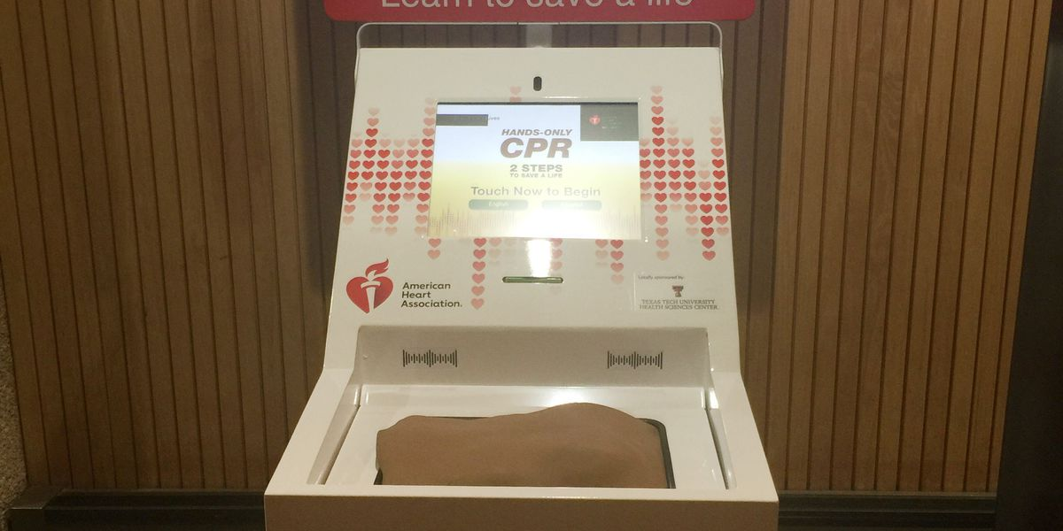 CPR training kiosk unveiled at Lubbock Preston Smith International Airport