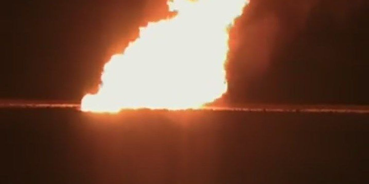 Pipeline explodes south of Ackerly