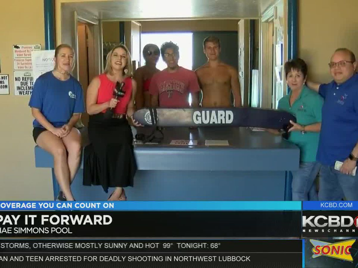 Pay It Forward: Surprising the visitors of Mae Simmons Pool