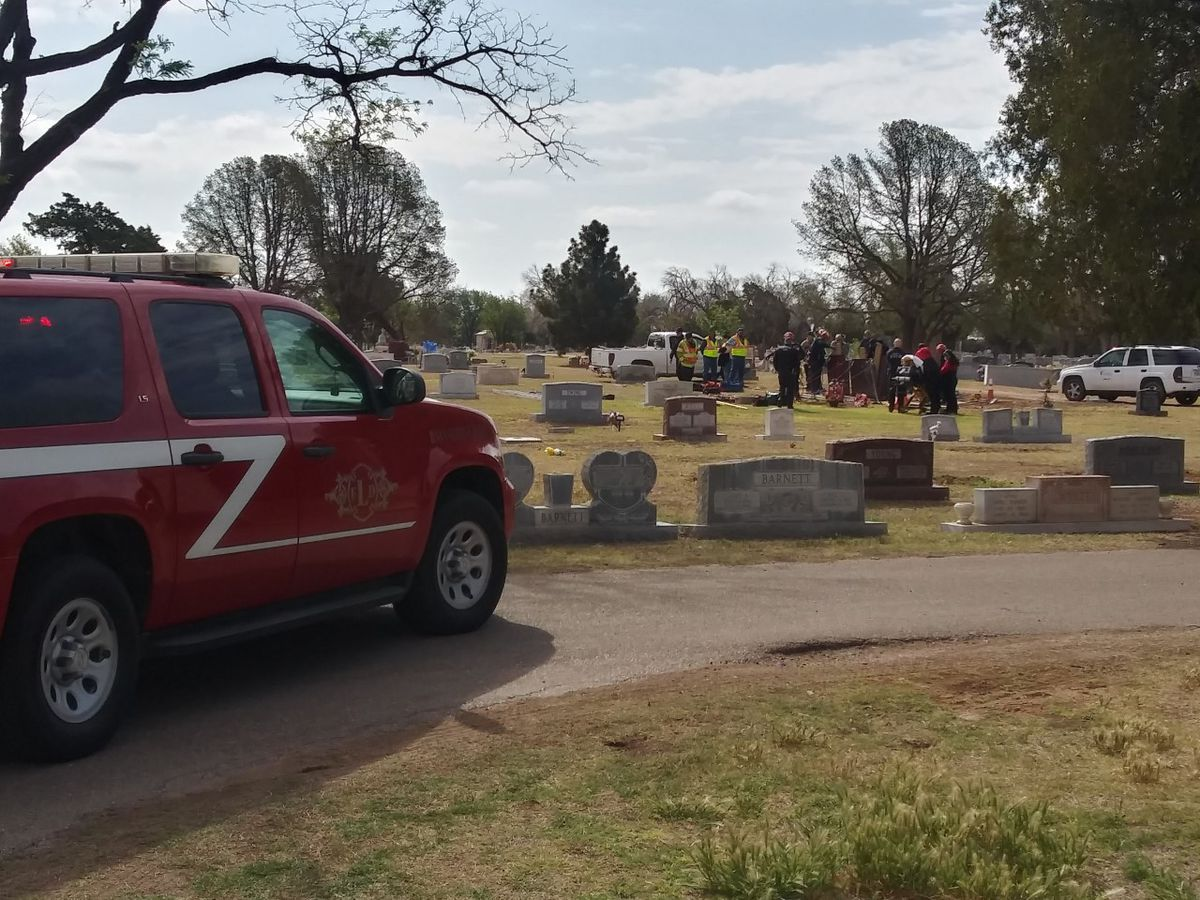 Heavy rescue called to Lubbock Cemetery after person falls into grave
