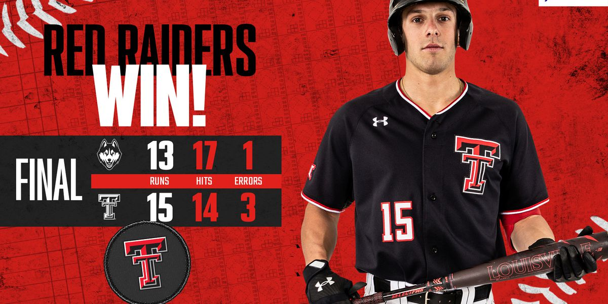 Texas Tech baseball takes out UConn 15-13 in game 3
