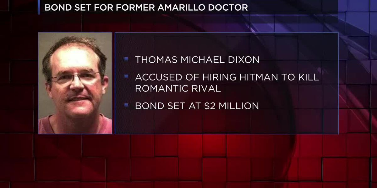 VIDEO: Former Amarillo doctor accused of hiring hitman to kill romantic rival to post $2 million bond