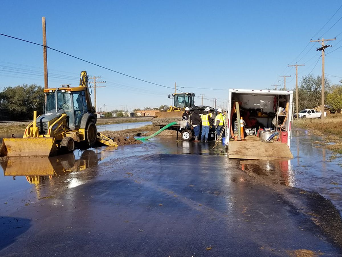 Littlefield without water after water main break