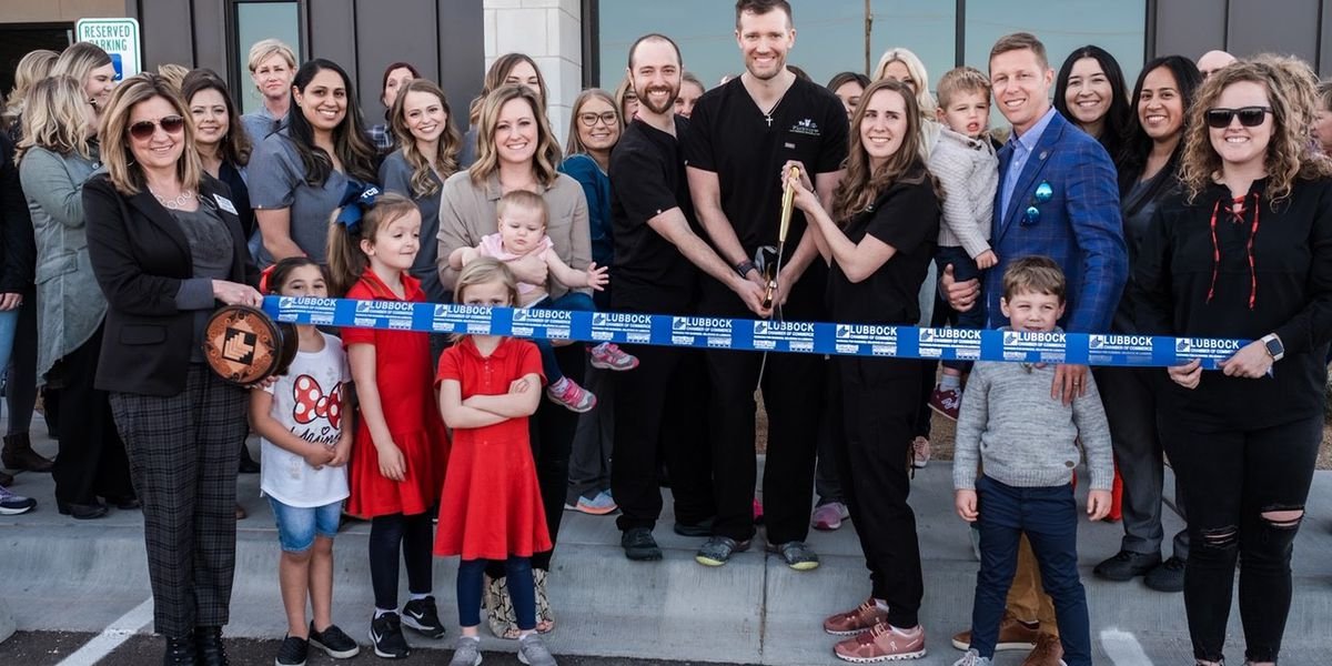 Parkview Pediatric Dentistry North Lubbock office ribbon cutting