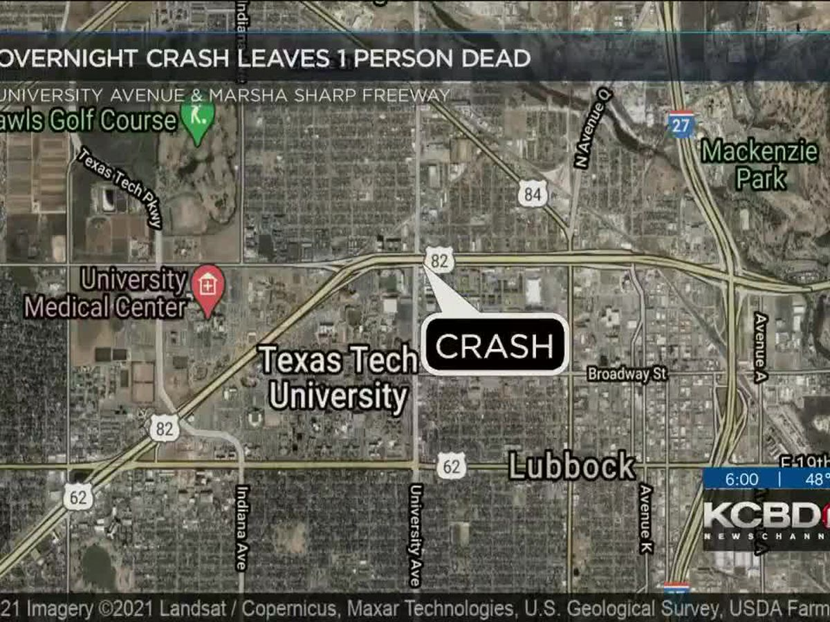 1 killed, 1 injured in overnight crash in Central Lubbock