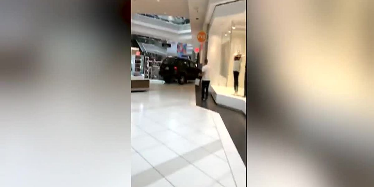 22-year-old drives through mall