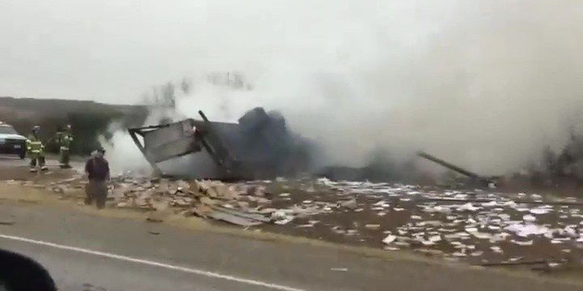 Driver of 18-wheeler killed in fiery crash on I-20 in Sweetwater