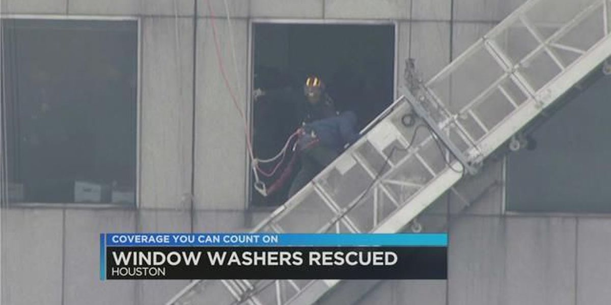 Stuck window washers rescued near top of Houston skyscraper