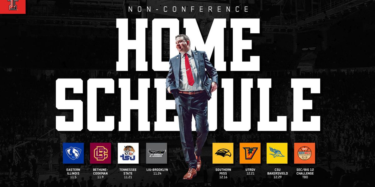 TTU Men's Basketball announces 2019 non-conference schedule