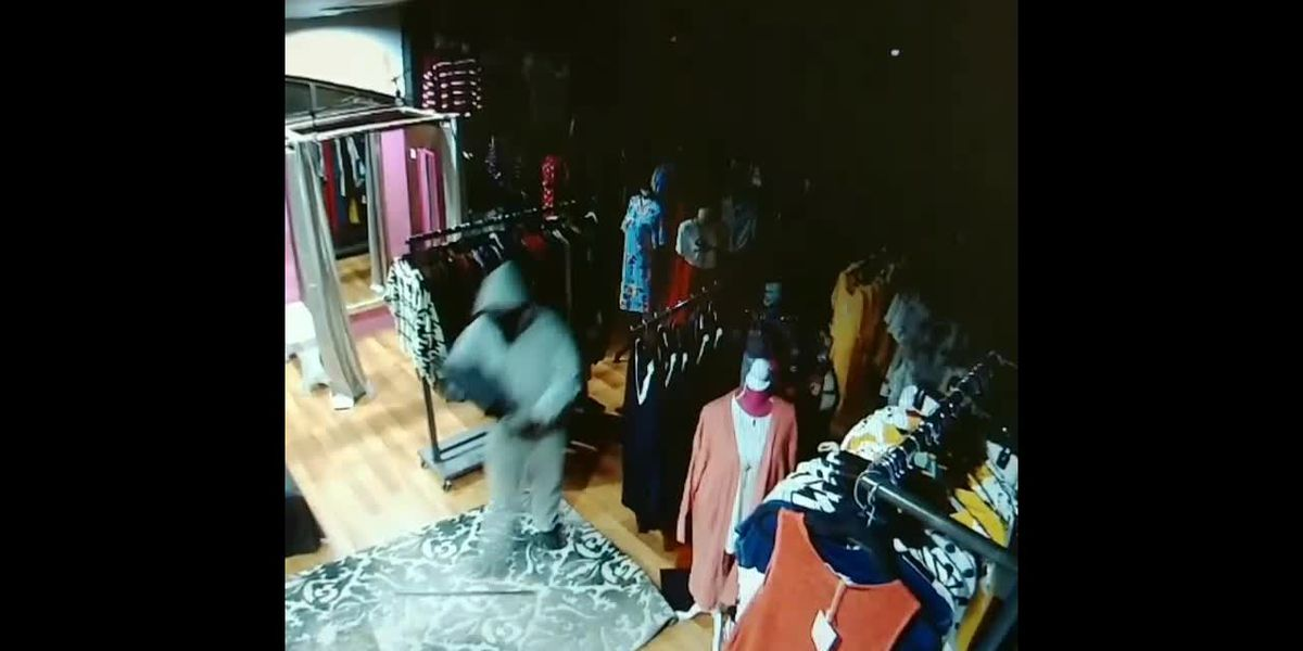Hub City Couture break-in Sec Cam