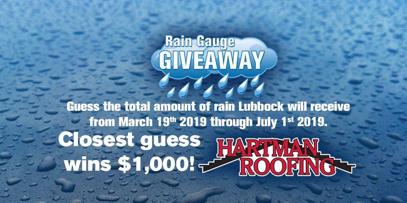 Rain Gauge Giveaway 2019