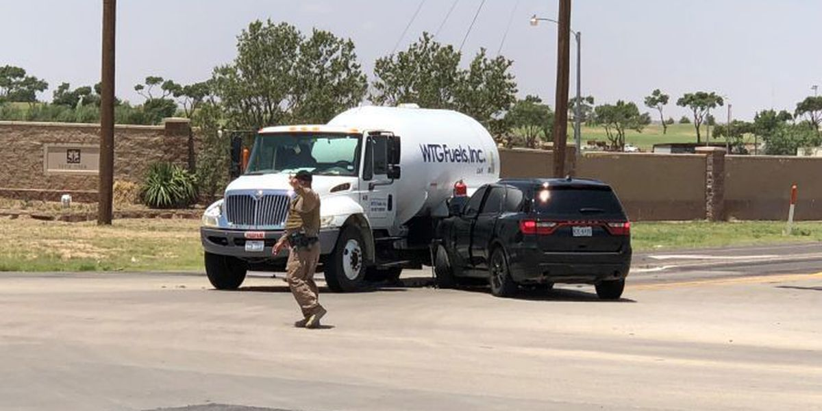 TRAFFIC ALERT: Car collides with propane truck, 19th & Research