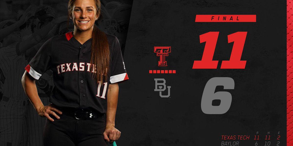 No. 15 Texas Tech softball sweeps Baylor