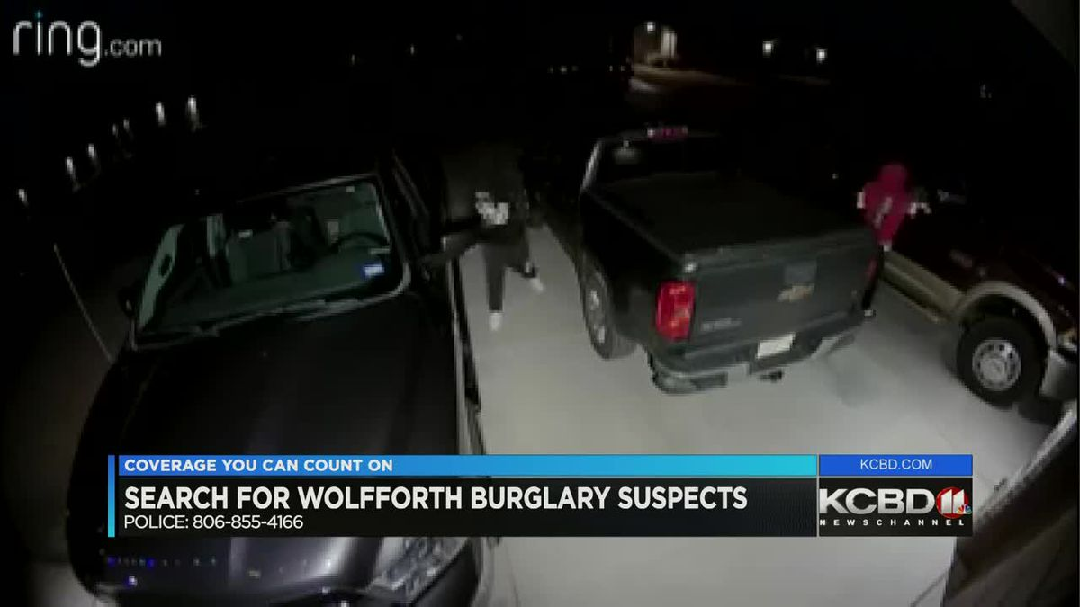 Wolfforth vehicle burglaries