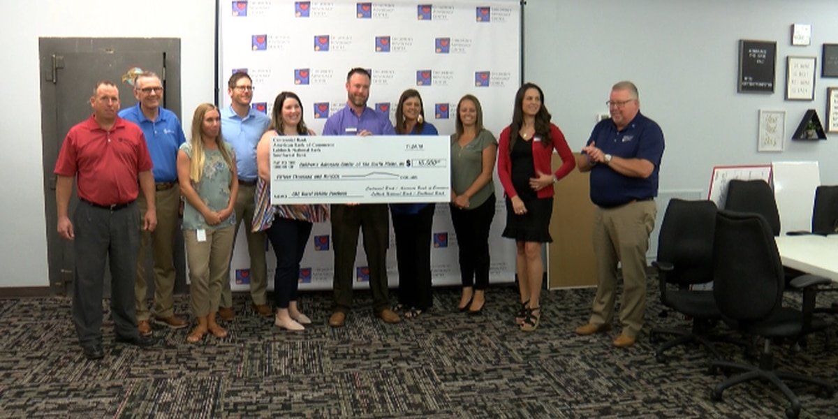 Lubbock area banks come together to donate $15,000 check to Children's Advocacy Center for a new car