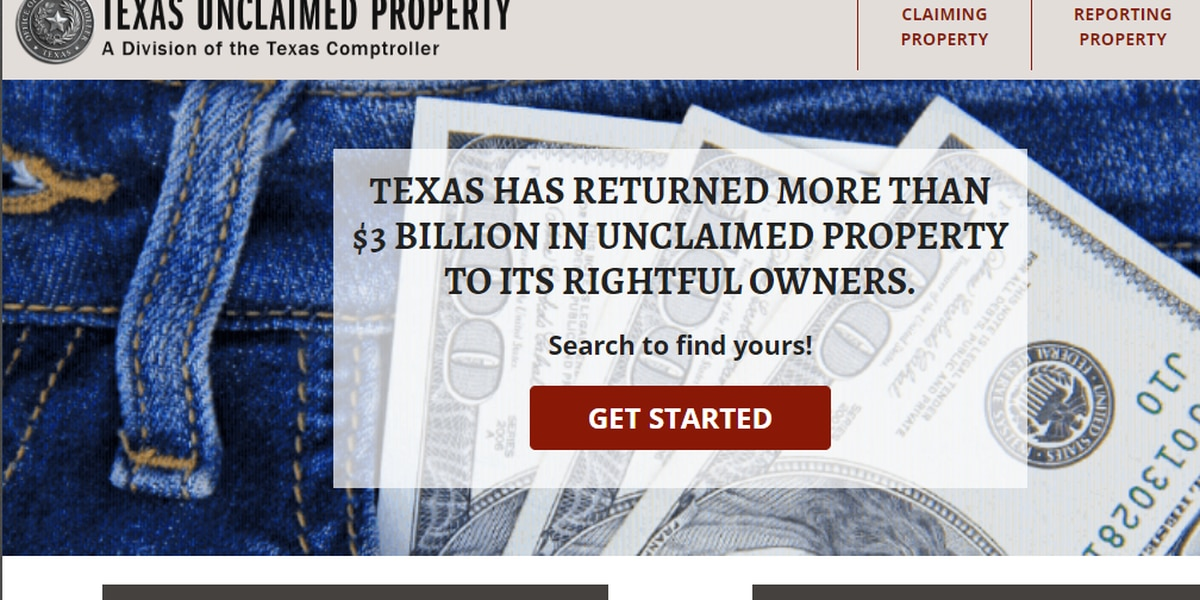 Texas Comptroller's Office could be holding your money
