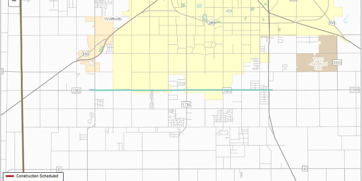 TxDOT holding public hearing to widen portion of Loop 88 (FM 1585)