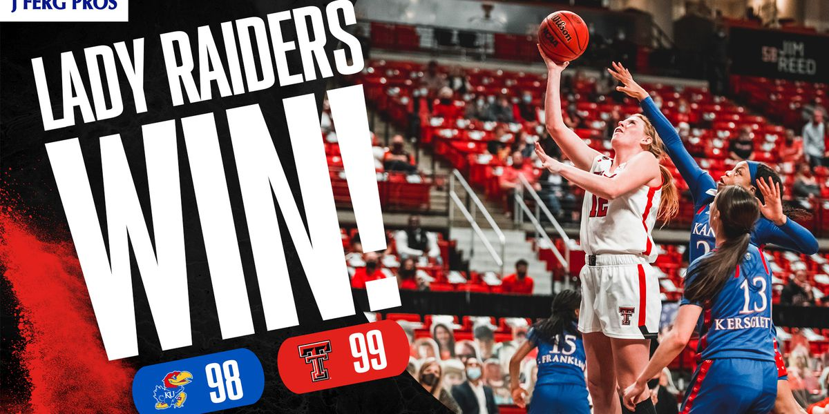 Lady Raiders rally for overtime win over Kansas 99-98