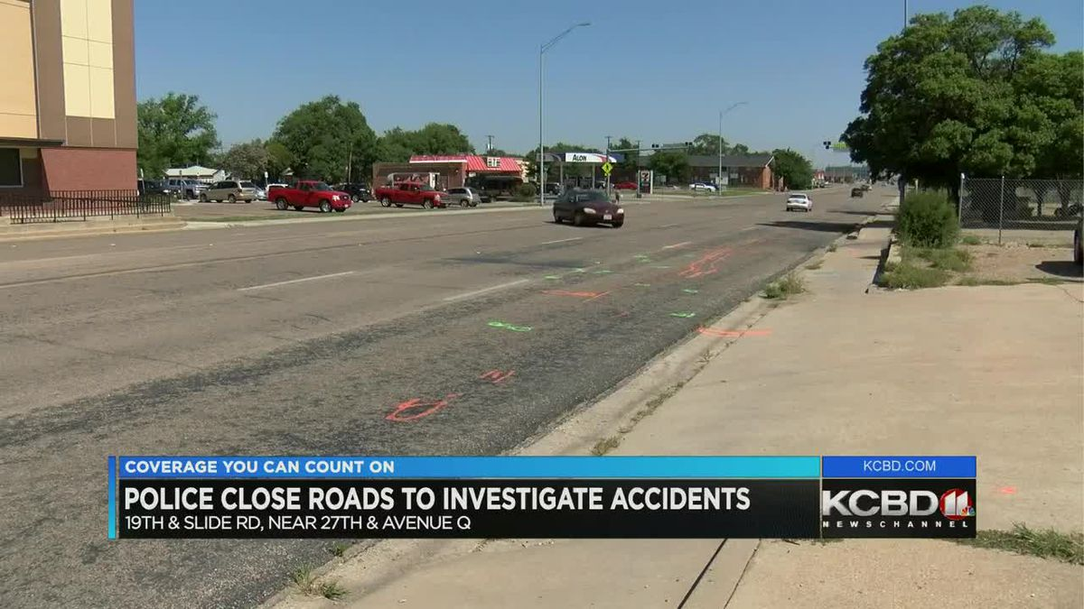 Police close roadway for accident investigation