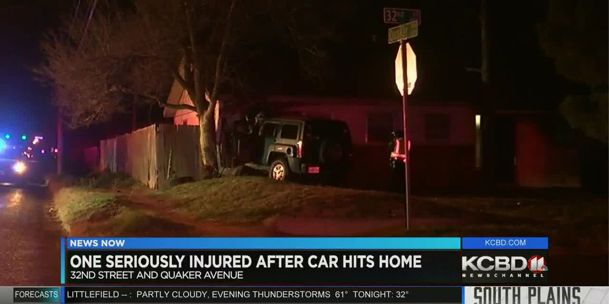 1 injured after crashing into house near 32nd Street, Quaker Avenue