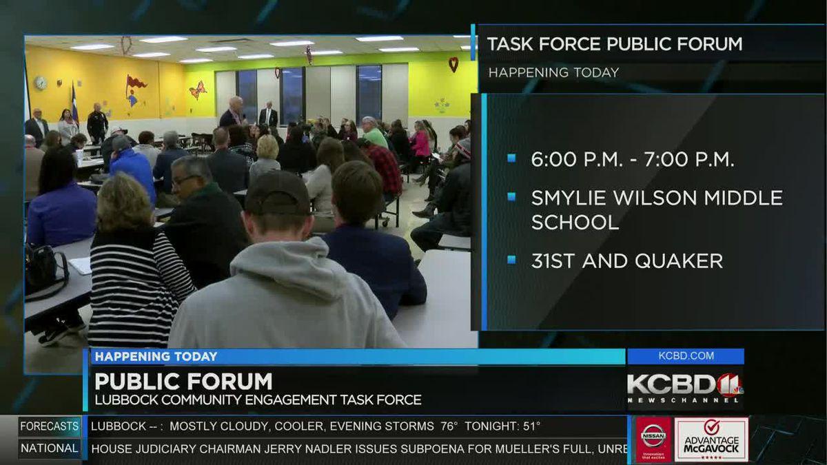 Community Engagement Task Force to host public forum at 6 p.m. Monday