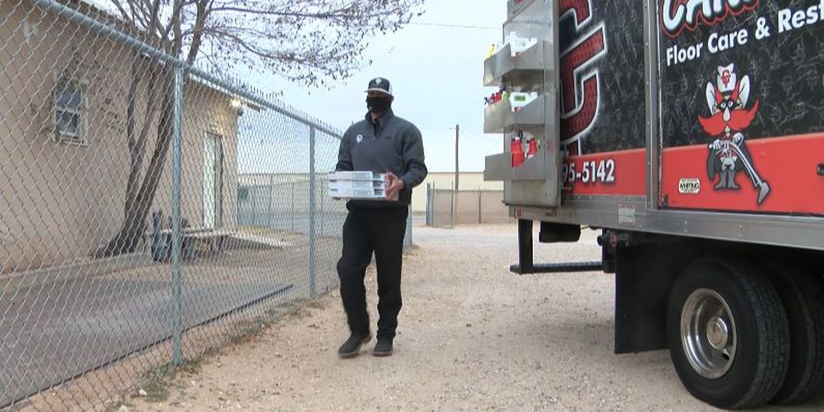 Local business serving community during holiday season, brings pizza to Grace Campus residents