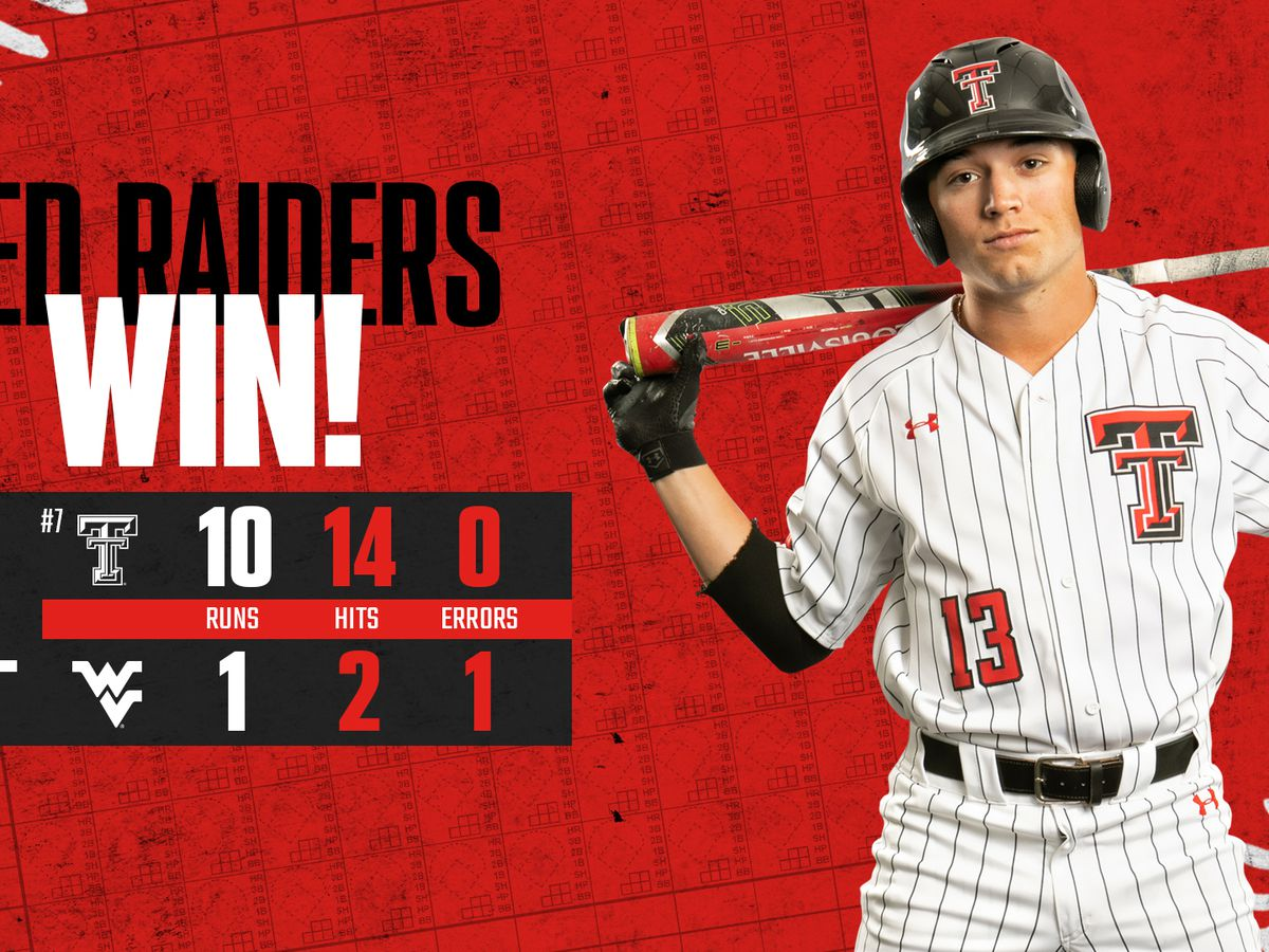 Texas Tech takes series with 10-1 win over West Virginia