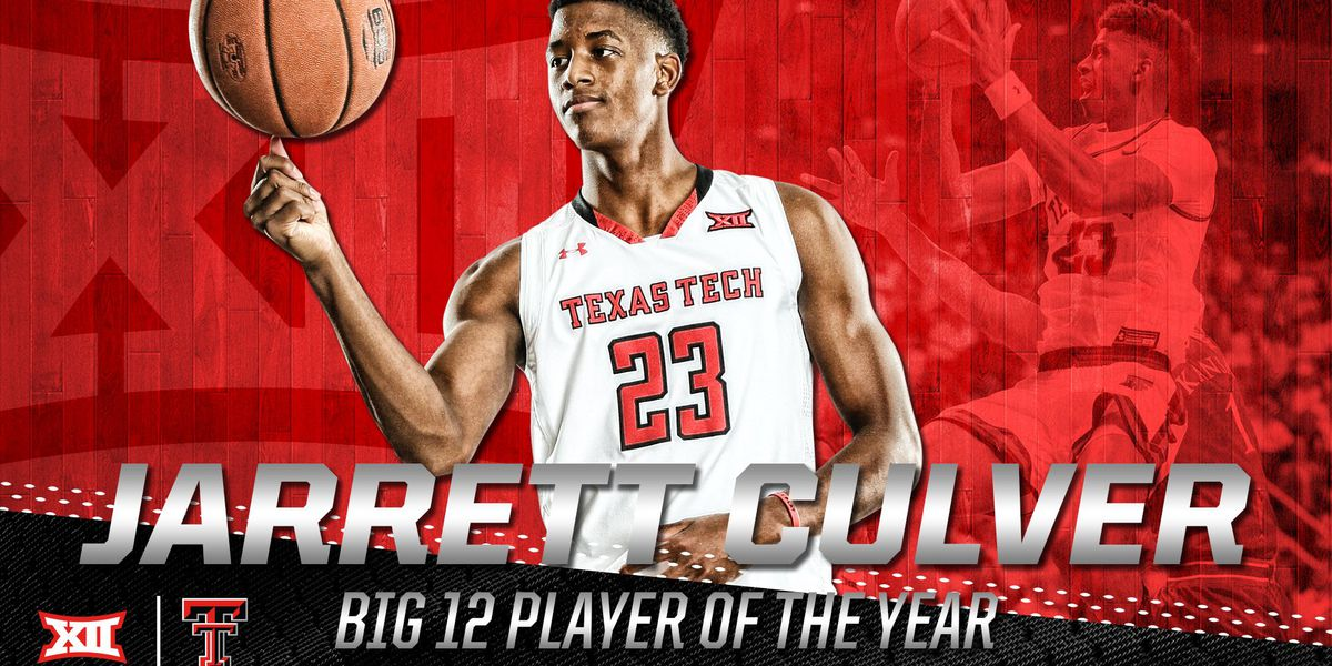 Chris Beard and Jarrett Culver announced as Big 12 Coach and Player of the Year, Red Raider team takes Honors victories