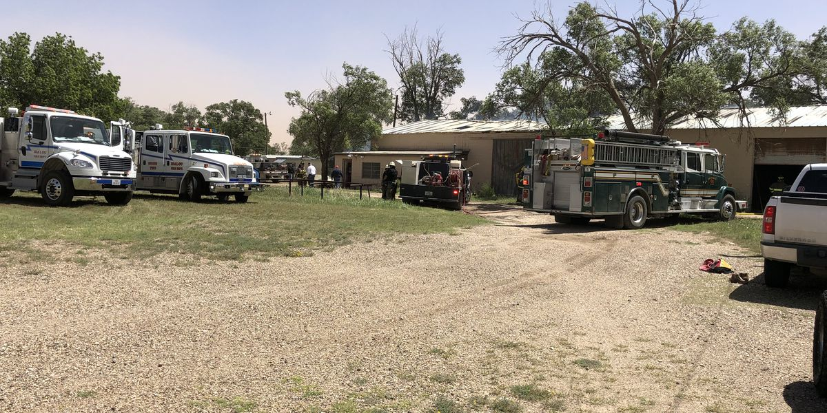 Multiple departments respond to fire east of Lubbock