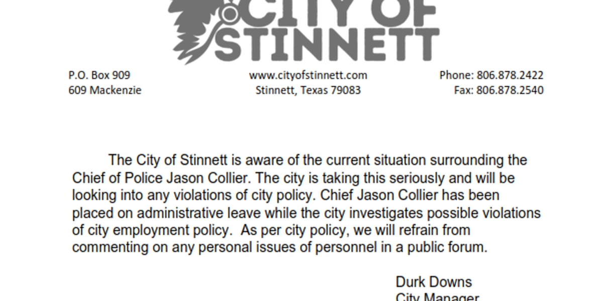 Stinnett Chief of Police placed on administrative leave pending investigation