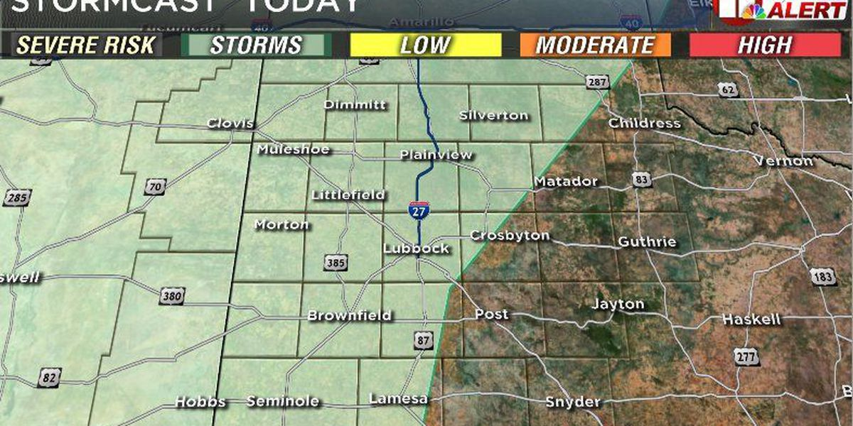 FIRST ALERT WEATHER DAY: Isolated storms possible Tuesday