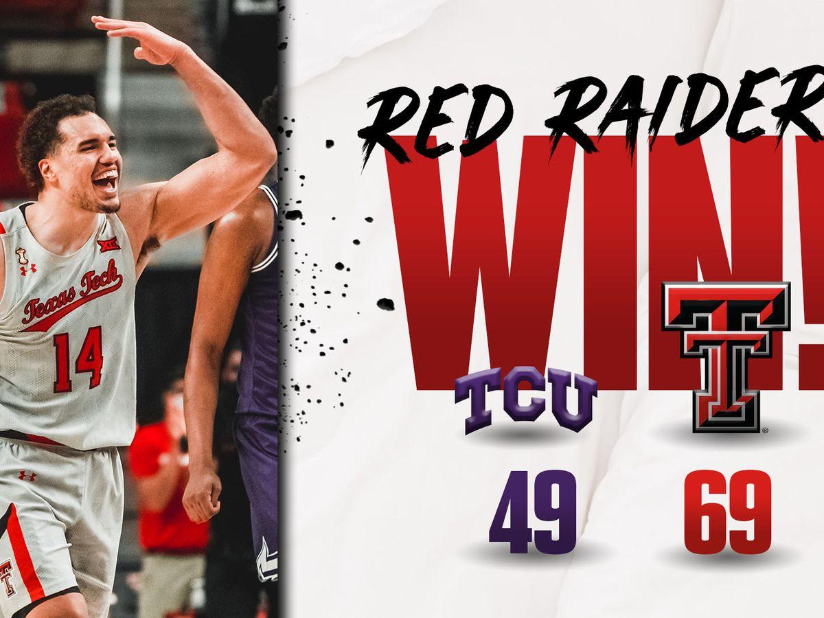 #18 Red Raiders get win over TCU, 69-49